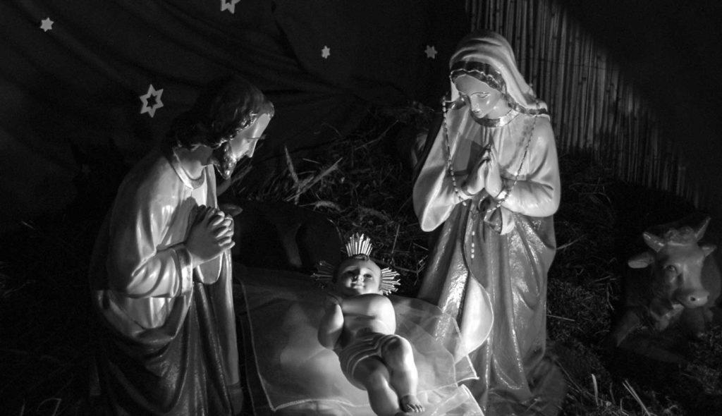 Nascita di Nostro Signore a Betlemme, Maria e Giuseppe accanto